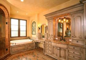 仿城堡美式浴室柜装饰