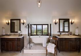 美式风双浴室柜设计