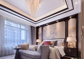 传统新古典卧室背景墙美图