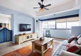 地中海风格客厅装修设计