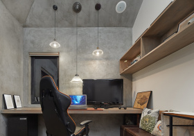 工业式现代风书房装修