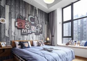 创意现代卧室背景墙设计