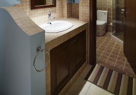 创意格子简约风浴室柜装修