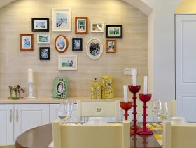 壁炉式美式风照片墙装饰