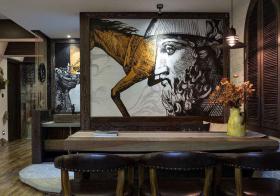 艺术壁画餐厅背景墙美图