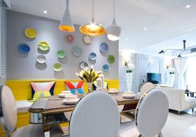 创意现代餐厅背景墙设计