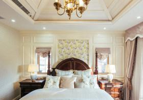 清新复古简欧卧室背景墙欣赏