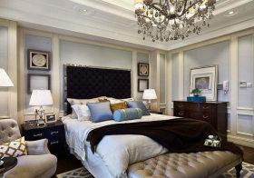 简约欧式卧室背景墙美图