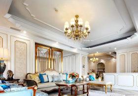 精致美式客厅吊顶装修设计