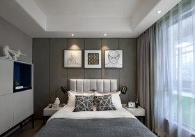 个性化现代卧室背景墙设计
