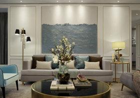 清新简约简欧沙发背景墙设计