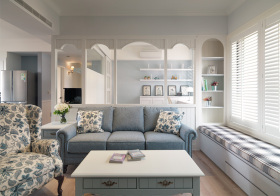 清新简欧风格客厅装修设计