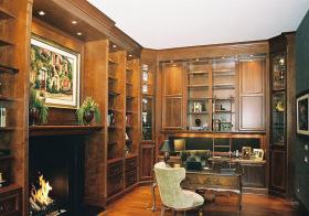 复古实木美式书房装修