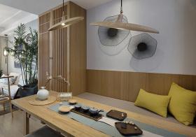 典雅木制中式茶室设计