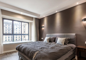 灰色简约卧室装修美图
