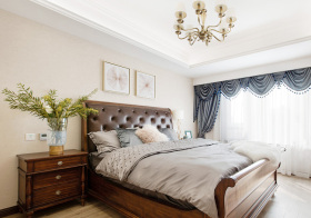 大气美式卧室窗帘设计