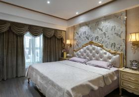 优雅简欧卧室窗帘设计