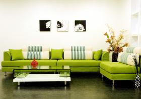 清新绿色现代客厅装修设计
