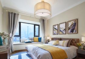 灰色大气现代卧室飘窗设计