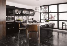 原木色新中式厨房设计欣赏