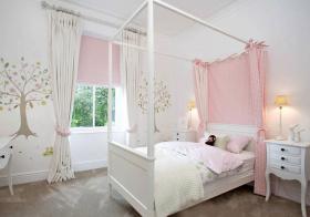 浅粉色现代儿童房设计