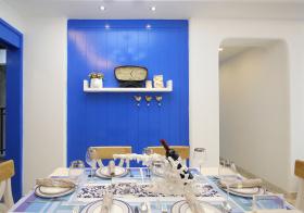 清新地中海厨房装修效果