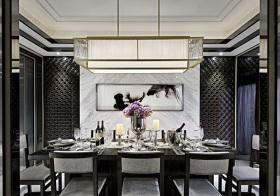 大气新中式餐厅装修效果