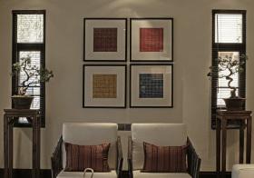 典雅中式沙发背景墙设计