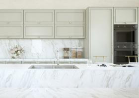 浅色现代厨房设计效果
