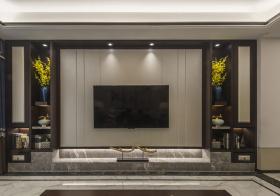 黑灰现代客厅背景墙美图
