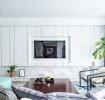 清新现代客厅电视墙设计