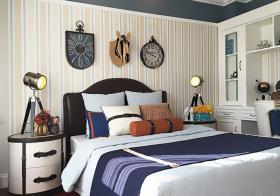 蓝色混搭卧室设计美图