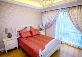 大气简欧卧室窗帘设计