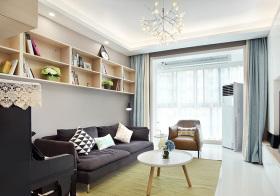 清爽美式客厅装修美图