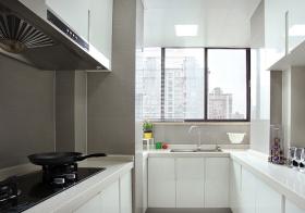 黑白大气现代厨房装修