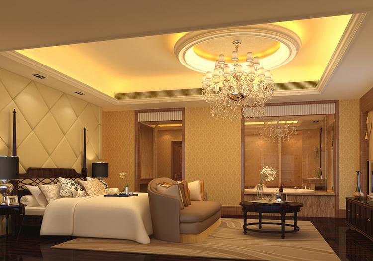 奢華歐式臥室吊頂裝修