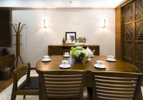 深原木色中式餐厅设计