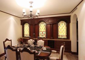 复古地中海餐厅装修效果