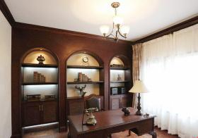 原木地中海书房装修设计