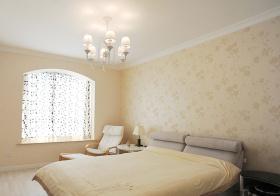 温馨地中海卧室窗帘装修