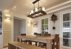 实木美式餐厅装修设计