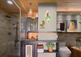 温馨混搭浴室设计美图