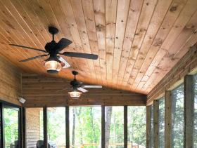 实木美式阳台吊顶设计图