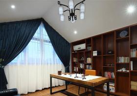 古典中式书房窗帘装修