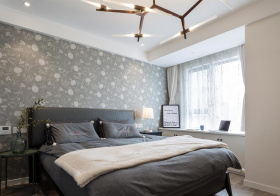 灰色北欧卧室装修设计