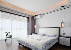 素净简约卧室窗帘设计