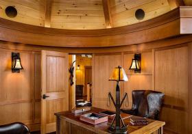 实木美式书房装修设计
