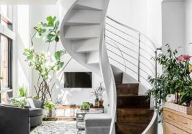 文艺北欧旋转楼梯设计