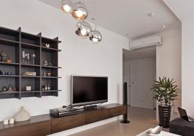 简洁现代客厅橱柜设计