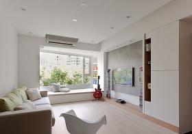 纯白简约客厅装修设计